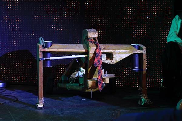 weird theater robot